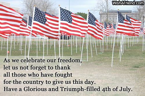 Glorious and Triumph-filled 4th of July Wishes Messages Picture