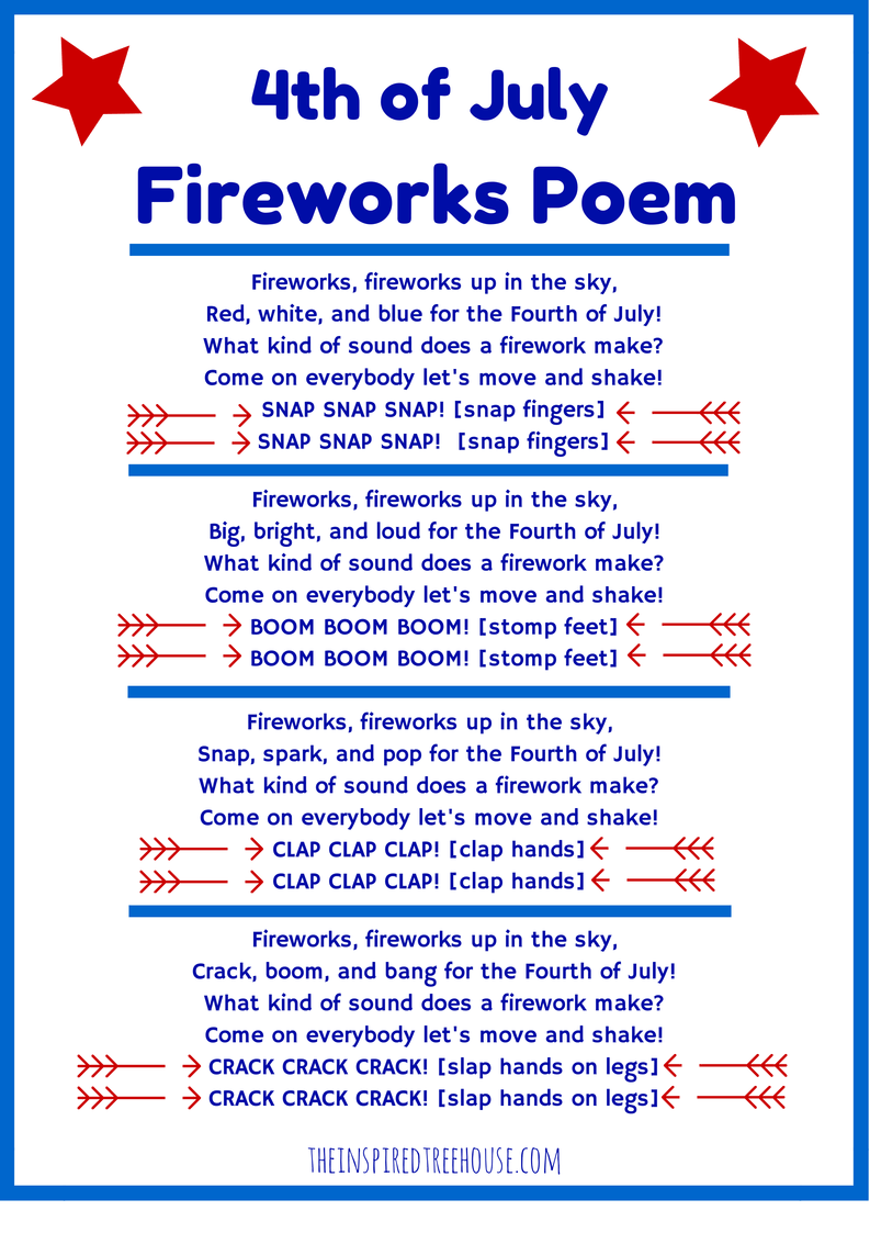 4th Of July Fireworks Poem Images