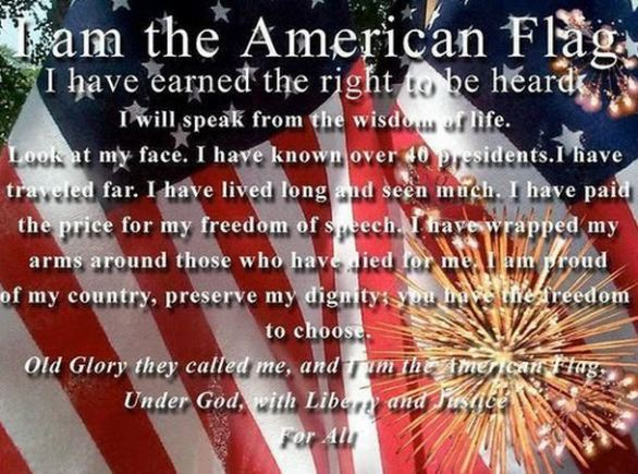 I am the American Flag Quotes and Images