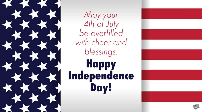 Happy Independence Day Blessings Quotes Photo
