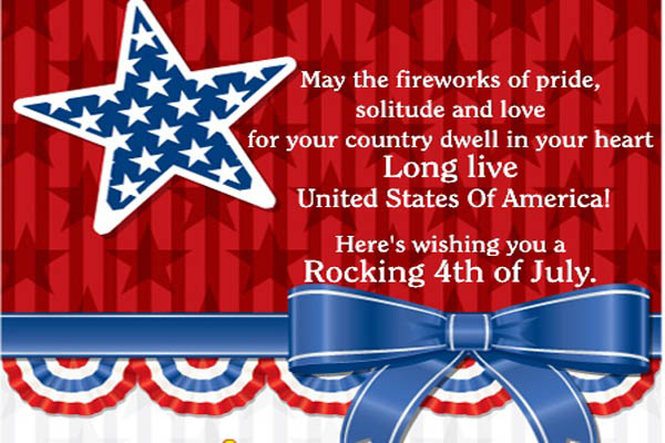 Wishing you a rocking 4th Of July Quotes Images