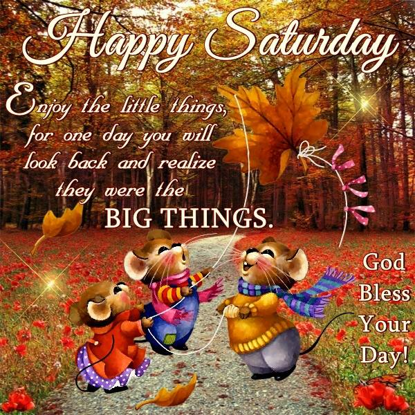 Colorful Happy Saturday God Bless Your Day Quotes Greetings Wishes Images