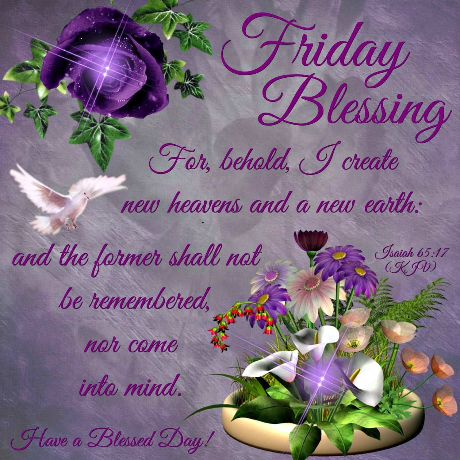 Friday Blessing Have a Blessed Day Proverbs Image