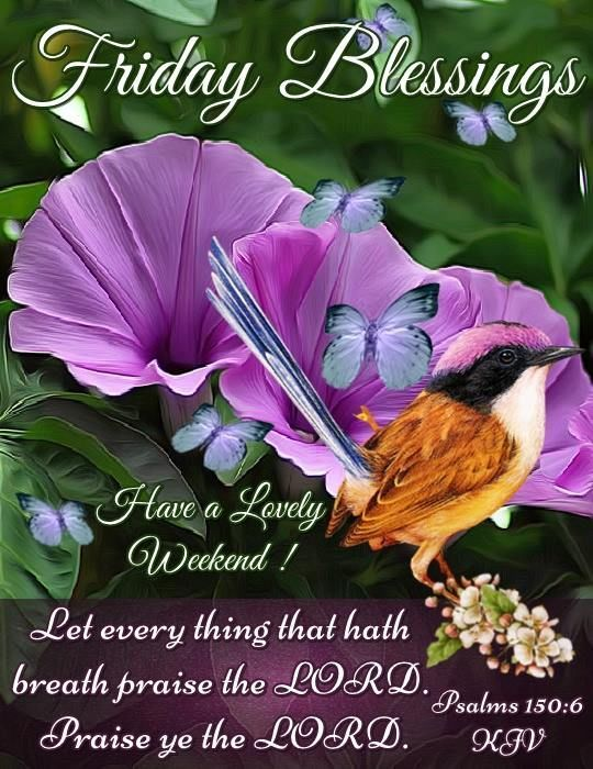 Friday Blessings KJV Psalms Have a Lovely Weekend Proverb Image