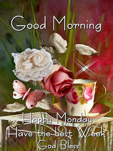 Good Morning Happy Monday Have the best Week God Bless Images
