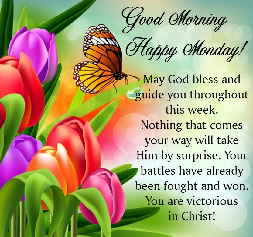 Good Morning Happy Monday May God Bless Quotes Images
