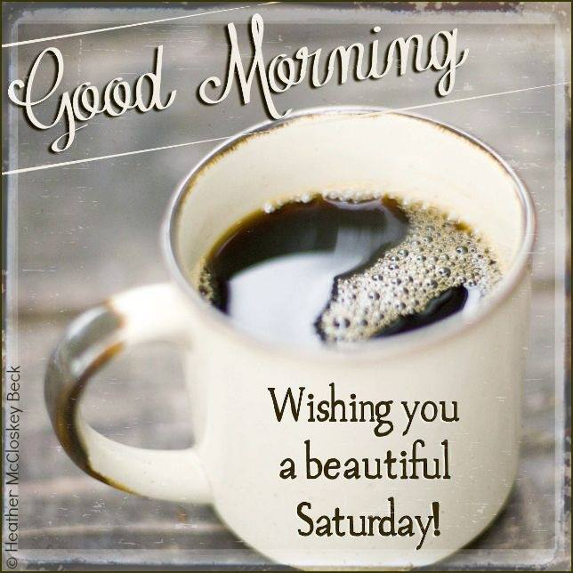 Good Morning Wishing you a beautiful Saturday to all