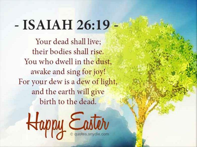 Easter Bible Verse Quotes from the Bible to Share