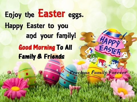 Good Morning Happy Easter Eggs Quotes Images