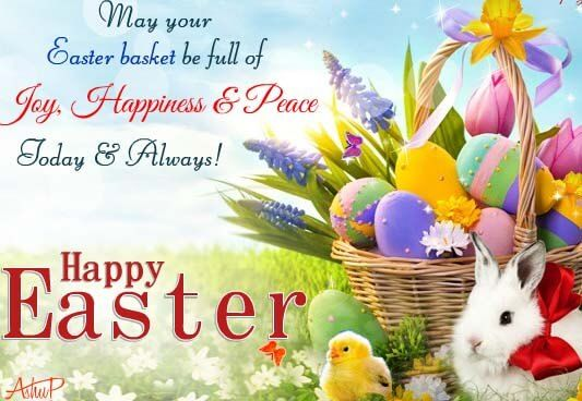 Happy Easter Basket Greetings Wishes Today and Always