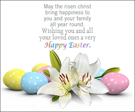 Happy Easter Christian Religious Greetings Quotes Image