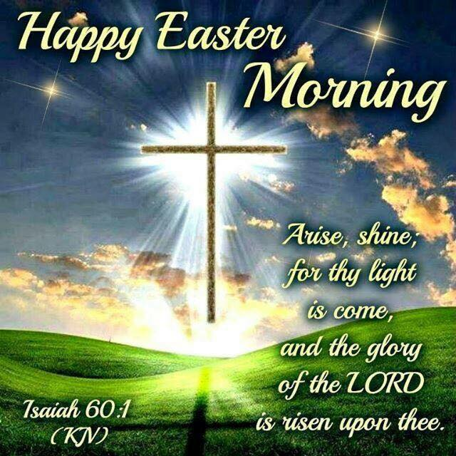 Happy Easter Good Morning Jesus Christ Cross Sayings Blessings Quotes with Images