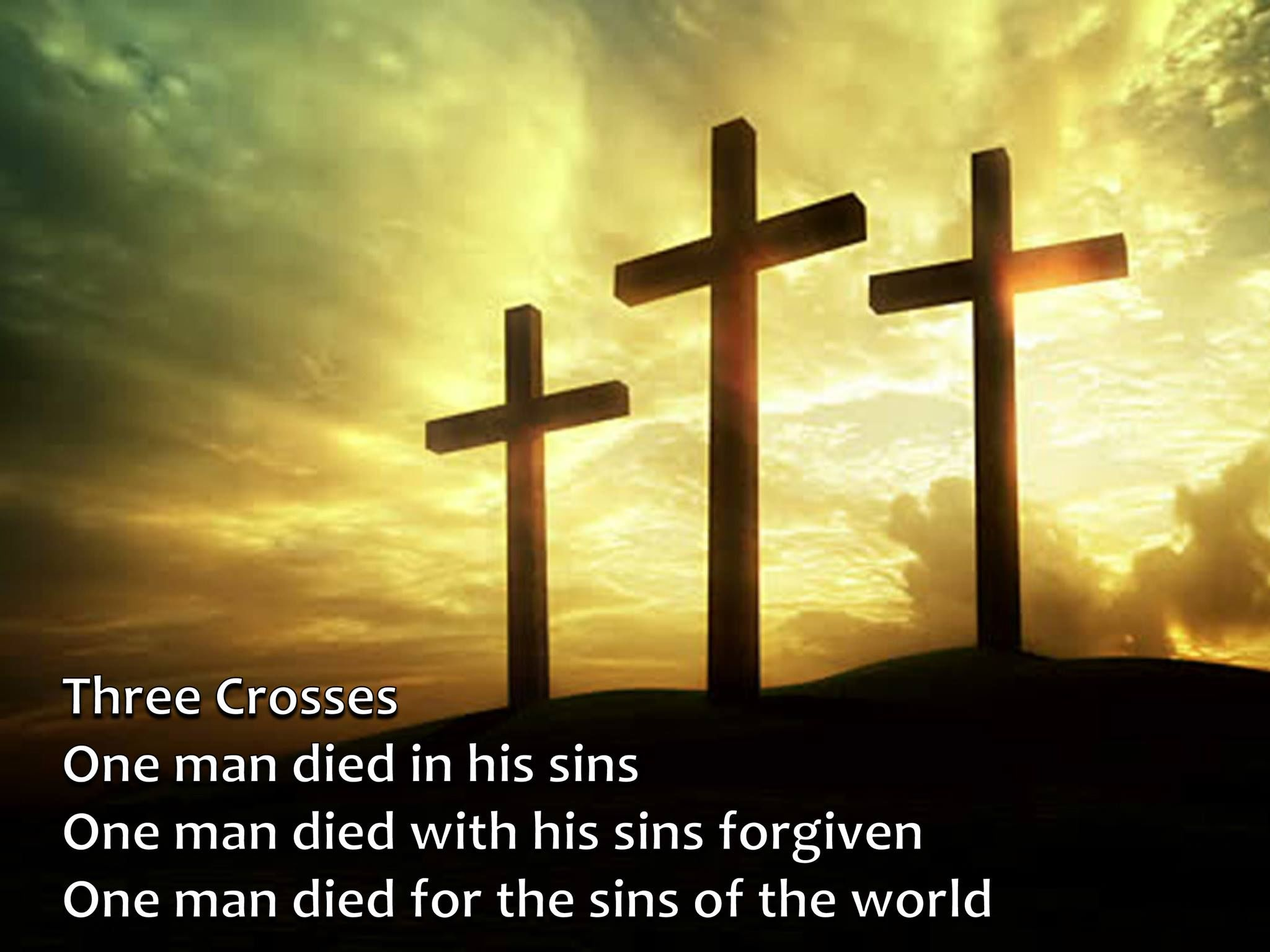 Three Crosses Good Holy Friday Quotes Sayings Images